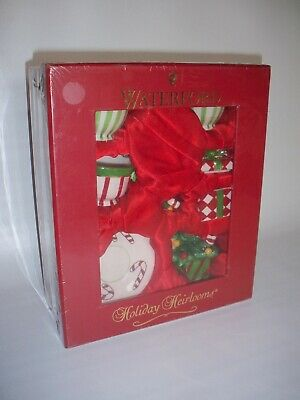 """Waterford """"Holiday Heirlooms"""" Mini Ceramic Tea Set For Two (9 Pcs Total)"""