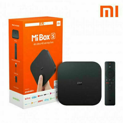 Mi Box S 4K HDR Android TV with Google Assistant Remote Streaming Player