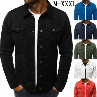 HOT Mens Retro Denim Hooded Zip Jean Jacket Hood Coat Cowboy Large Size CN M-5XL
