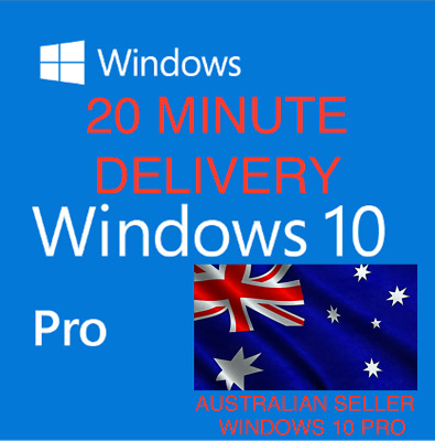 Microsoft Windows 10 Pro Professional 32/64 Bit Geniune License Key Code