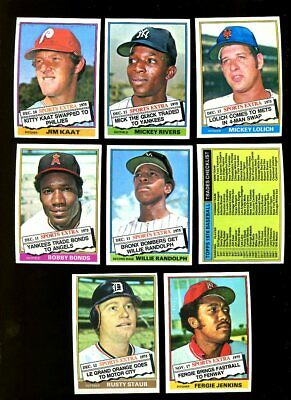 1976 Topps Traded Baseball Complete Set Nmmt *inv1504