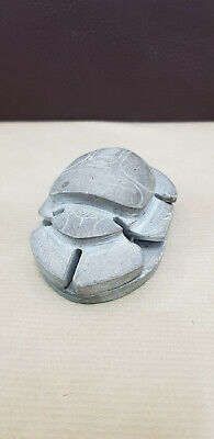 Scarab Egyptian Antique Stone Beetle Steatite Carved Rare Amulet Faience Egypt