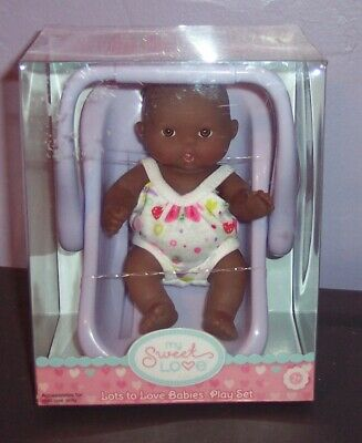 "NEW AA Berenguer Doll Lots To Love Babies 5"" Mini Nursery PlaySet IN Carrier HTF"