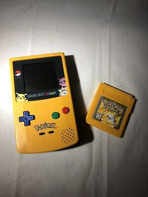 Nintendo Game Boy Color Pokemon Yellow! And Pokémon Game As Well!!!