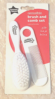 Tommee Tippee Essentials Hairbrush & Comb Bpa Free 0 + Mths