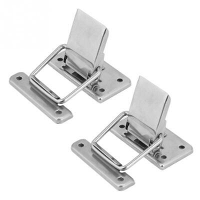 2Pcs Stainless Steel Latch Hasp Lock Cabinet Case Spring Latch Catch Toggle Hasp