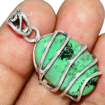 South African Transvaal Jade 925 Sterling Silver Pendant Jewelry AP82591