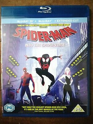 Spider-Man: Into the Spider-Verse 3D blu ray HD Region Free + Free shipping