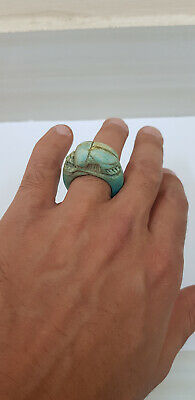 Egypt Ring Stone Egyptian Scarab carved amulet from Luxor
