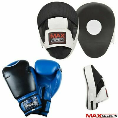 GEL CURVO Focus Pads Gancio E Jab Punch boxe kick fight training Guanti Mesh