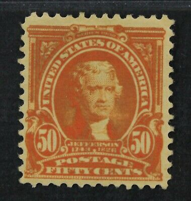 CKStamps: US Stamps Collection Scott#310 50c Jefferson Mint H OG Toned
