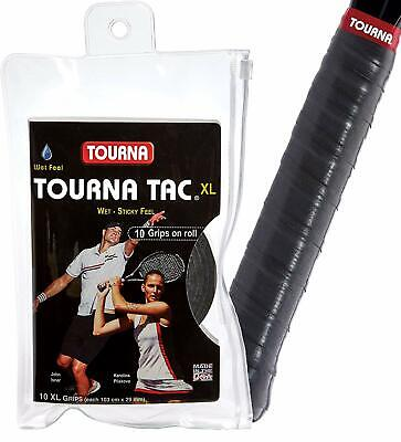 Tourna Tac 10 Pack Tacky Feel Tennis Grip,Black & Blue & Pink & White,SHIPS FREE