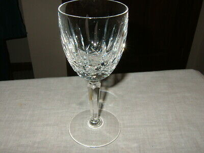 "Signed Waterford Crystal ""Lismore"" Pattern, Wine Hock, 6 1/2"", Excellent"