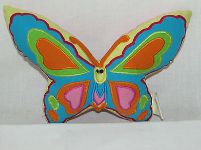 CUPCAKES & CARTWHEELS TWO'S COMPANY Butterfly Shaped Tooth Fairy Pocket Pillow