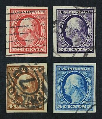 CKStamps: US Stamps Collection Scott#343-347 Used, #346 Crease