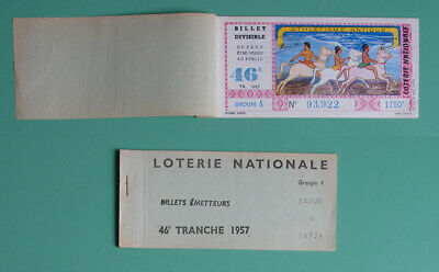 Carnet de 7 billets Loterie Nationale 1957 Athlétisme Antique - Imp. CHAIX