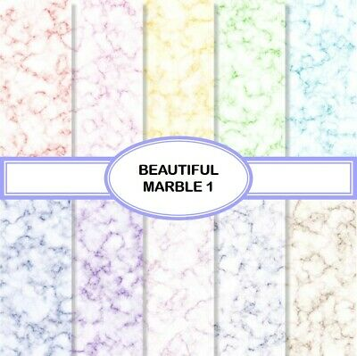 BEAUTIFUL MARBLE 1 SCRAPBOOK PAPER - 10 x A4 pages