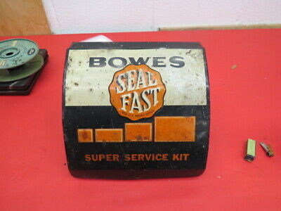 Vintage 1940's Bowes Seal Fast tire repair display cabinet advertising D-1-5