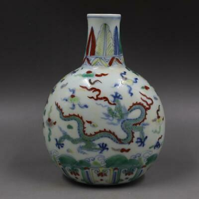 Chinese ancient antique hand make Dragon pattern Vase  s342