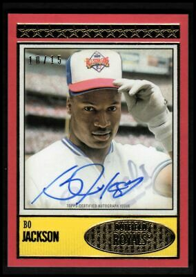 2018 Topps Brooklyn Collection Autographs Red #BC1BJ Bo Jackson Auto 10/15 NM-MT