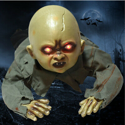 Halloween Zombie Crawling Prop Baby Animated Horror Haunted Party House Decor