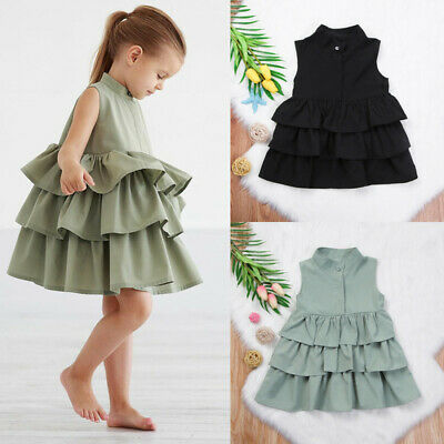 Newborn Kid Baby Girls Party Pageant Cake Ruffle Tutu Dress Bubble Skirt Clothes