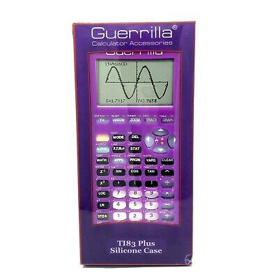 Guerrilla Purple Silicone Case Texas Instruments TI-83 Plus
