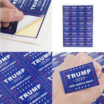 32Pcs Donald Trump Face Clothes Body Sticker 2020 Keep America Great Decals