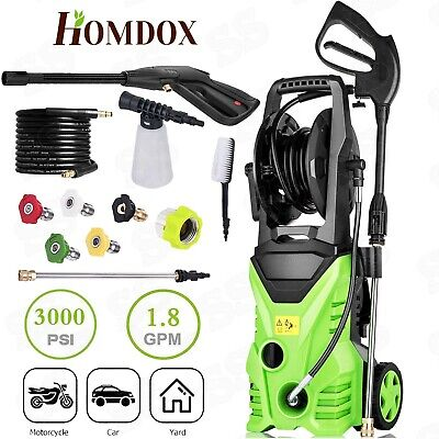 Homdox 3000PSI High Power Water Electric Pressure Washer 1.8.GPM Cleaner Machine