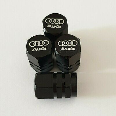 AUDI Laser Wheel Valve Dust caps all models BLK S LINE RS S5 S3 RS3 RS4 RS5 RS6