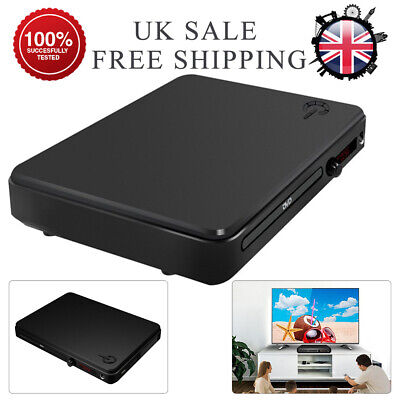 Compact DVD Player HDMI Upscaling & Scart USB Multi Region Remote Control UK NEW