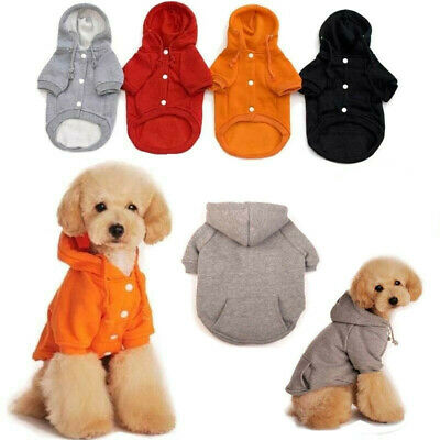 Pet Dog Cat Hoodie Winter Warm Clothes Coat Cotton  Puppy Sweater Jacket Apparel