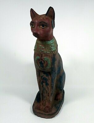 Rare Egyptian Antiques Cat Bastet Bast Statue Sculpture