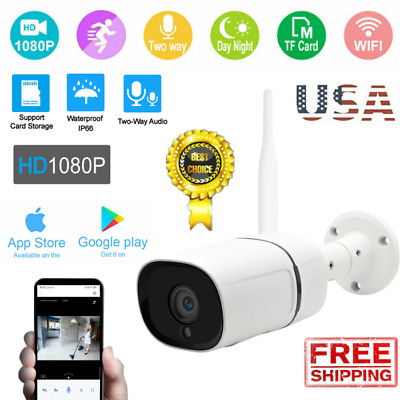 1080P HD IP66 CCTV Camera Waterproof Outdoor WiFi PTZ Security Wireless IR Cam A