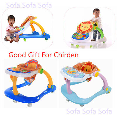 Multi Function Baby Walker First Steps Push Along Bouncer Activity Musical Toys