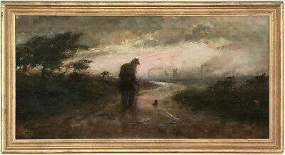 An Overcast Landscape Oil Painting by Mary Mostyn Clarke (19th/20th Century)