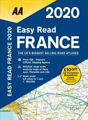 AA Easy Read France 2020 9780749581398 | Brand New | Free UK Shipping