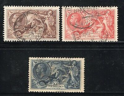 GB KG V 1934 Re-Engraved: Seahorse : Waterlow: SG 450-452 : GOOD TO FINE USED