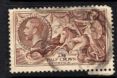 GB KGV 1934 Re-Engraved: Seahorse : Waterlow: SG 450 : 2/6d Red Brown  GOOD USED