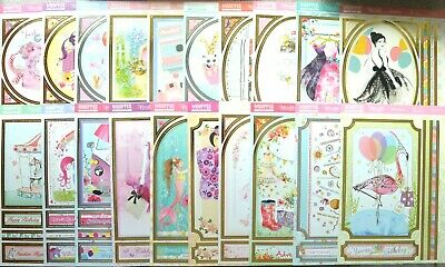 Hunkydory Foiled Whopper Toppers for the Girls 4 variations NEW