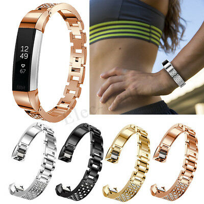 For Fitbit Alta/Alta HR Stainless Steel Sport Watch Band Strap Diamond