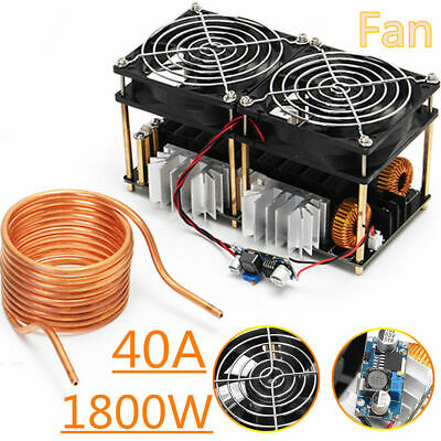 1800W ZVS Induction Heating Board Module Flyback Driver Heater+Tesla coil+fan