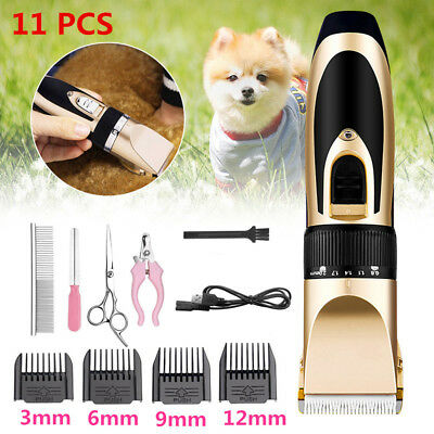 Electric Pet Dog Cat Grooming Shaver Clippers Cordless Hair Trimmer scissors