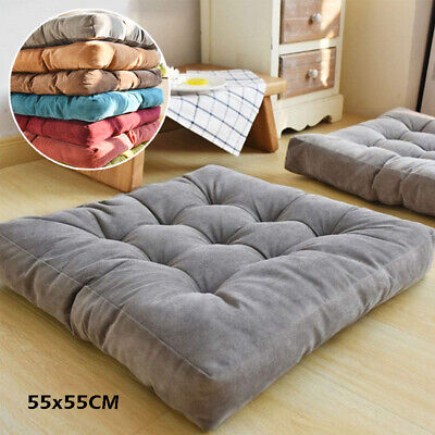 Soft Sofa Chair Corduroy Cushions Seat Square Floor Garden Dining Large Thick