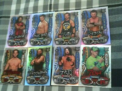 Topps Wwe Slam Attax Live X6 Limited Edition Cards & 2 Champion Cards - Rare
