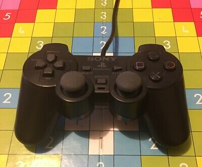 Genuine/ Sony Playstation 2 (Ps2) Dualshock 2 Wired Controller In Black