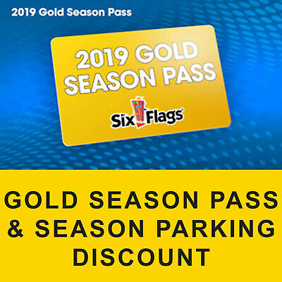$88 Off Discount Gold Season Pass 2019 Six Flags The Great Escape & Parking