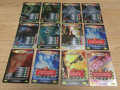 Lot of 12 Dr Who Battles In Time Trading Cards Holographic Rare Cards (1)
