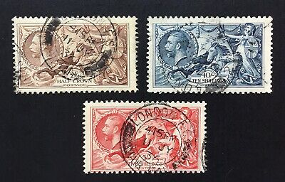 GB George V 1934 Re-engraved Seahorses Used Set SG 450/2. (cat £190).