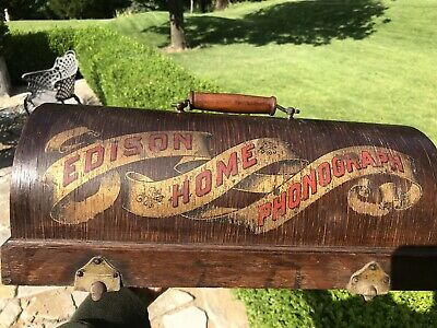 EARLY EDISON HOME SUITCASE PHONOGRAPH LID (Only)